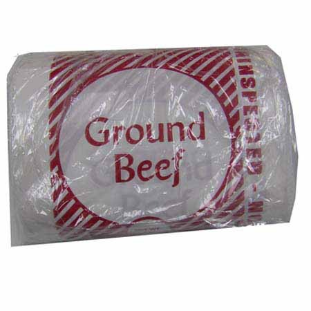 2 Lb, Printed Ground Beef Bags, 100/Pkg