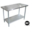 "Stainless Steel worktable, 6 Ft (30"" x 72"")"