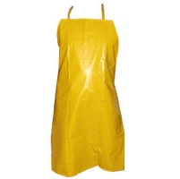 Yellow apron, heavy plastic