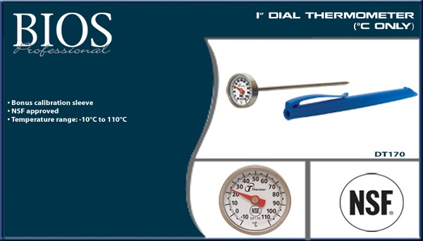 "Thermometer, 1"" Dail, Celsius only"